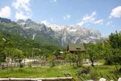 Blick auf die Albanischen Alpen