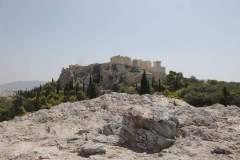 Blick aus der Ferne auf die Akropolis