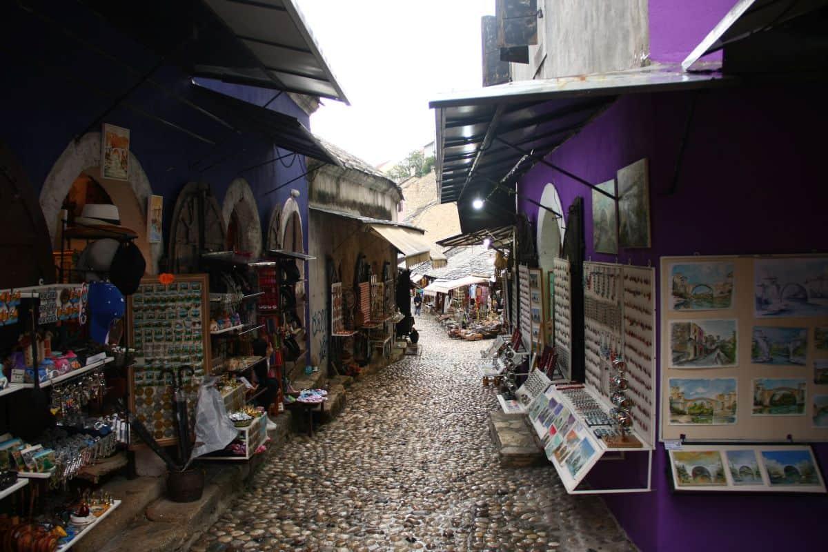 Der Bazaar von Mostar