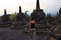 Schlendern zwischen den Stupas des Borobodurs
