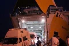 Entladen der Corsica Ferries