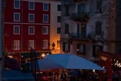 Die Altstadt Cortes am Abend
