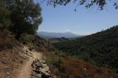 Blick von der Ferne auf die Zitadelle Cortes