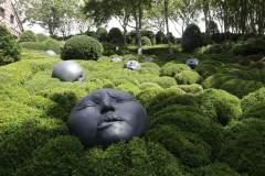 Skulpturlandschaft in den Gärten von Ètretat