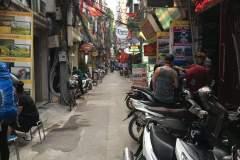 Touristische Straße in Hanoi