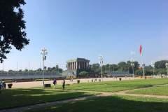 Ho-Chi-Minh-Mausoleum auf dem Ba-Dinh-Platz