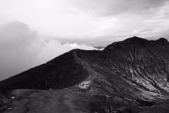 Der Krater Rand des Kawa Ijen