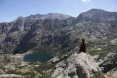 Blick von oben auf den Lac de Melo