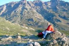 Kurze Rast am Fuße des Monte Cintos