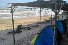Zelte am Strand in Mui Ne Im Long Son