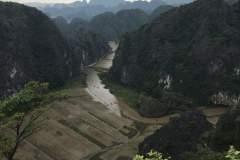 """Blick über die """"trockene Halong-Bucht"""""""