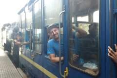 Abfahrt mit dem Toy-Train in Mettupalayam