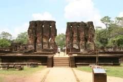 Ruine des königlichen Palastes in Polonnaruwa