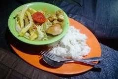Ein kleines Meal, zubereitet auf dem Rinjani