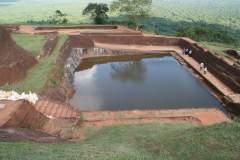 Ruinen in der Felsenfestung von Sigiriya