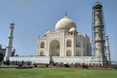 Blick auf die Taj Mahal von der Seite