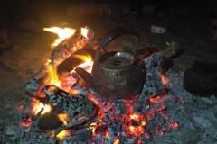 Tee Kochen Im Lagerfeuer