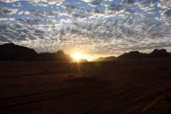 Sonnenaufgang  in Wadi Rum