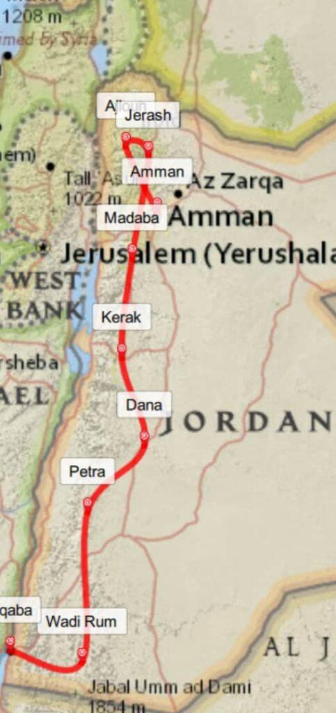 Itinerary Jordan