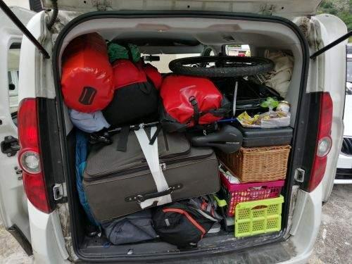 voller Kofferraum