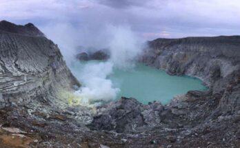 Blick auf den Vulkansee Kawa Ijen