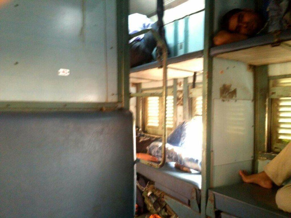 Schlafabteil im Zug
